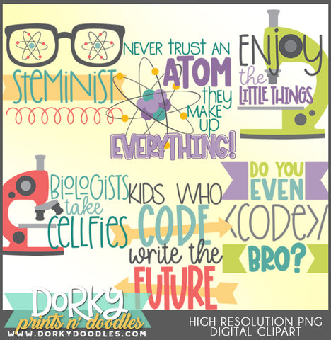 Science STEM School Clipart