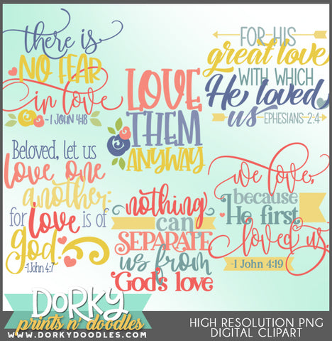 Love of God Words and Titles Clipart