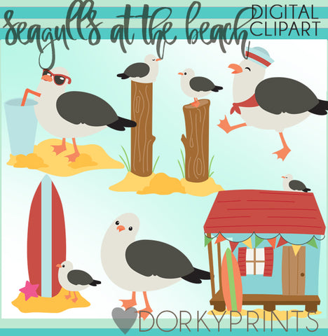 Seagulls of Summer Clipart