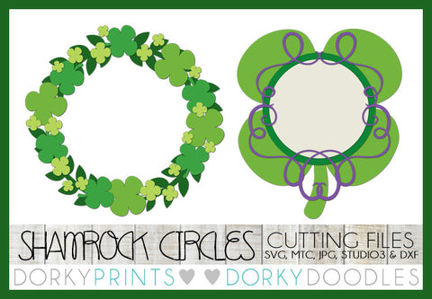 St Patrick's Day Monogram Frame Cuttable Files