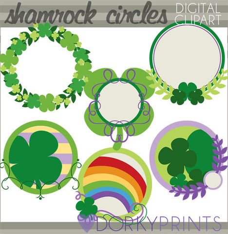 Shamrock Circles Holiday Clipart