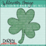 Shamrock Stitches Watercolor PNG