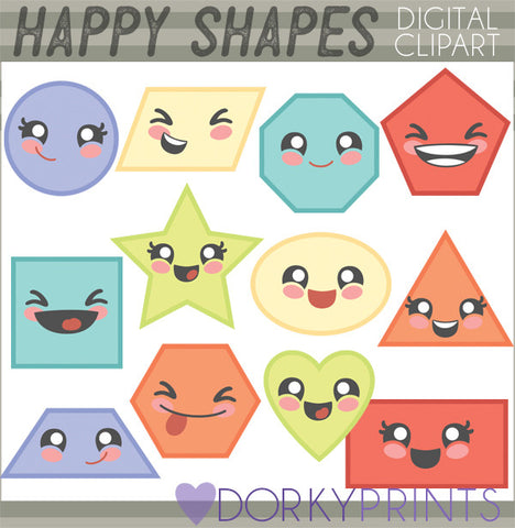 Basic Shapes School Clipart