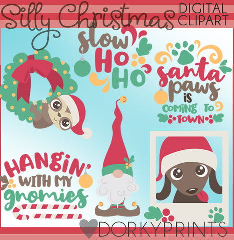 Silly Christmas Clipart