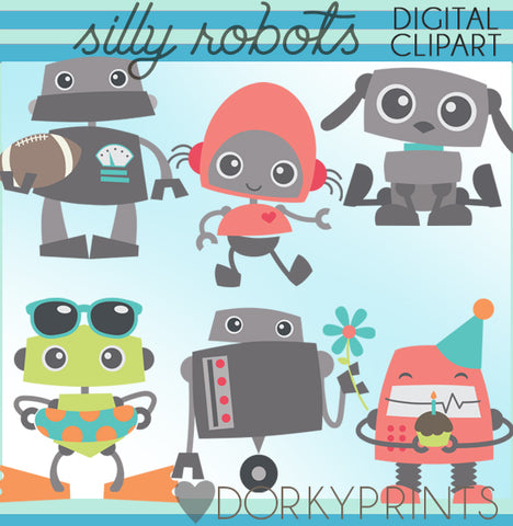 Silly Robot Sci-Fi Clipart