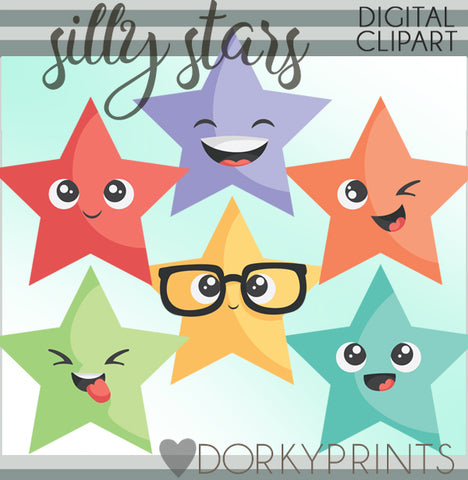 Silly Stars Back to School Clipart