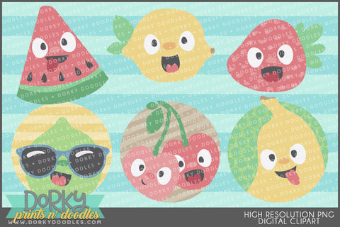 Silly Fruity Food Clipart