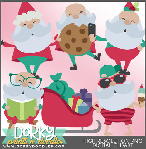 Silly Santa Christmas Clipart