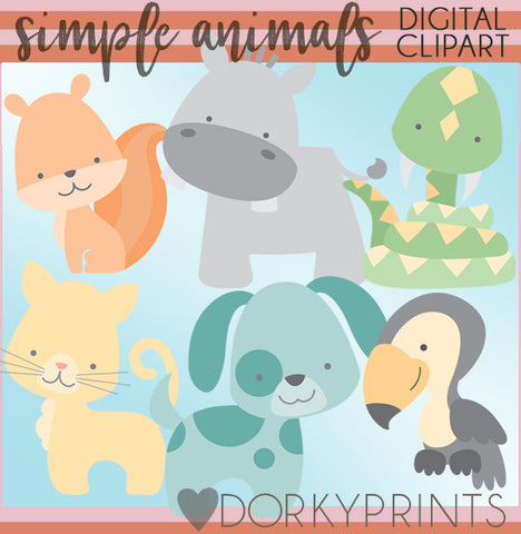 Simple Animals Clipart