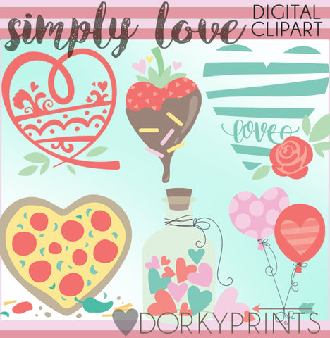 Simple Love Valentine Clipart