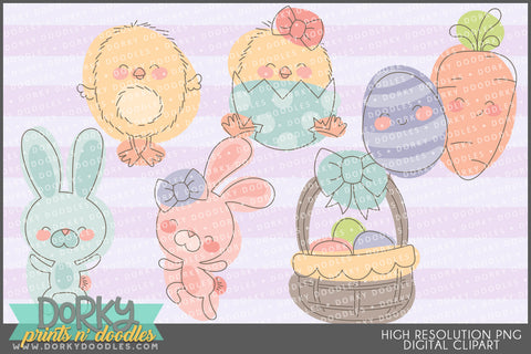 Cute Sketchy Easter and Spring Clipart