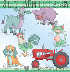 Silly Farm Animals Clipart