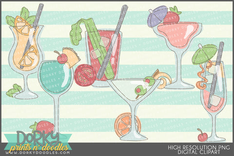 Sketchy Cocktail Clipart
