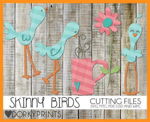Skinny Birds Cuttable Files