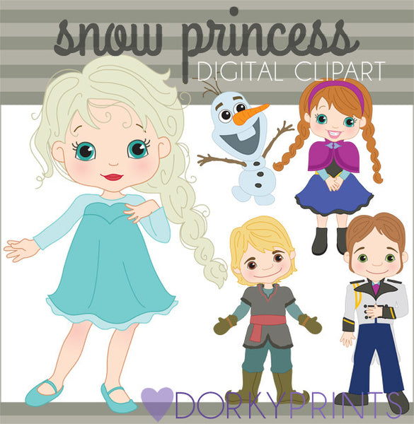 Snow Princess Character Clipart