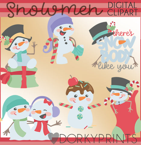 Silly Snowman Christmas Clipart