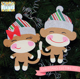 Christmas Sock Monkeys Cuttable Files