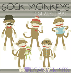 Sock Monkey Clipart