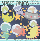 Outer Space Dinosaur Animals Clipart