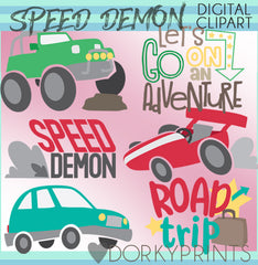 Speed Demon Cars Clipart