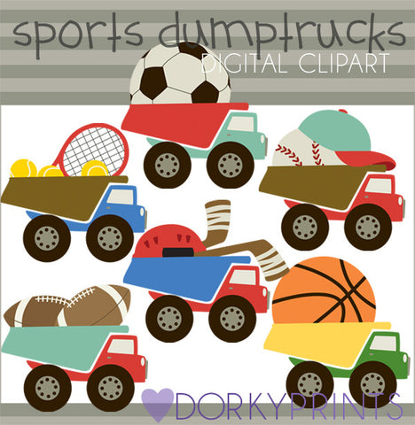 Sports Dumptrucks Clipart