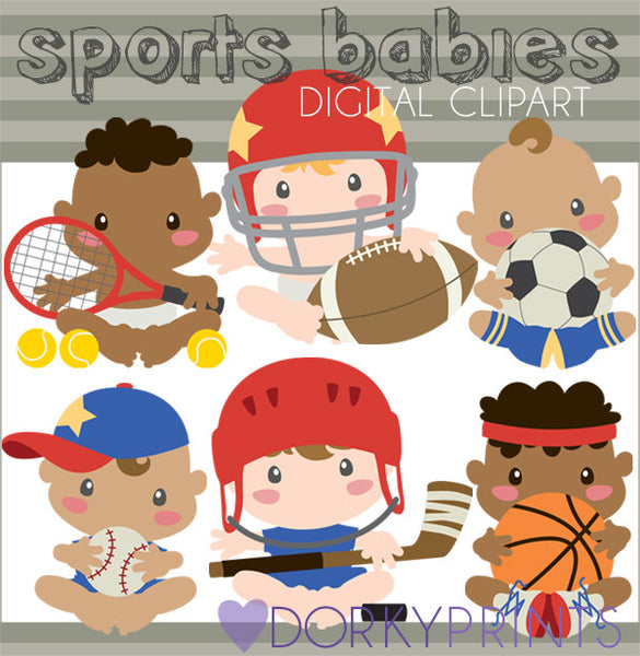 Sports Babies Clipart
