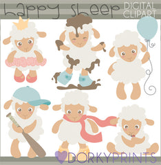 Little Lamb Spring Clipart