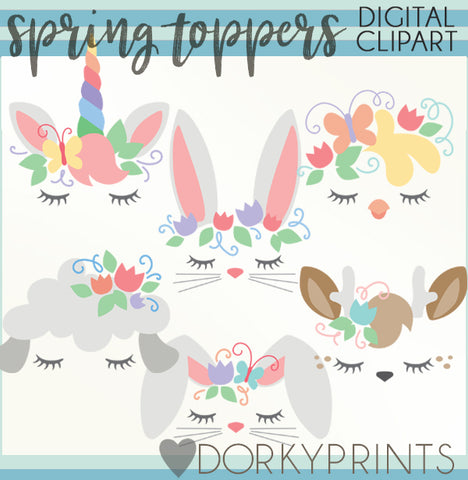 Toppers for Spring Clipart