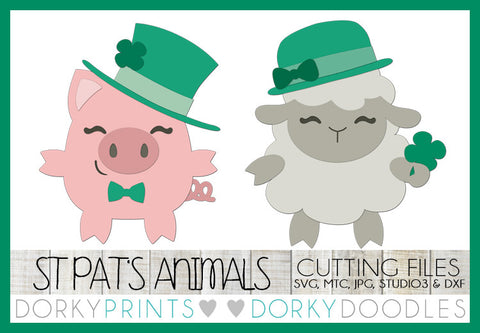 St. Patrick's Day Animals Cuttable Files
