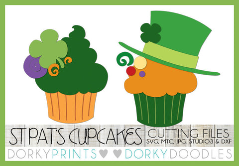 St. Patrick's Day Cupcake Cuttable Files