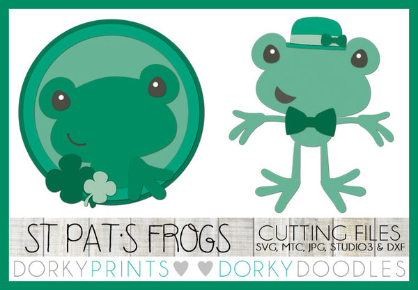 St. Patrick's Day Frogs Cuttable Files