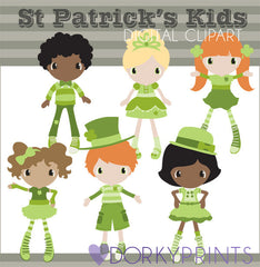 St Patrick's Day Kids Holiday Clipart