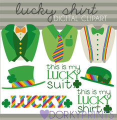 Green Suit St Patrick's Day Holiday Clipart