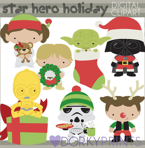Star Heroes Christmas Clipart