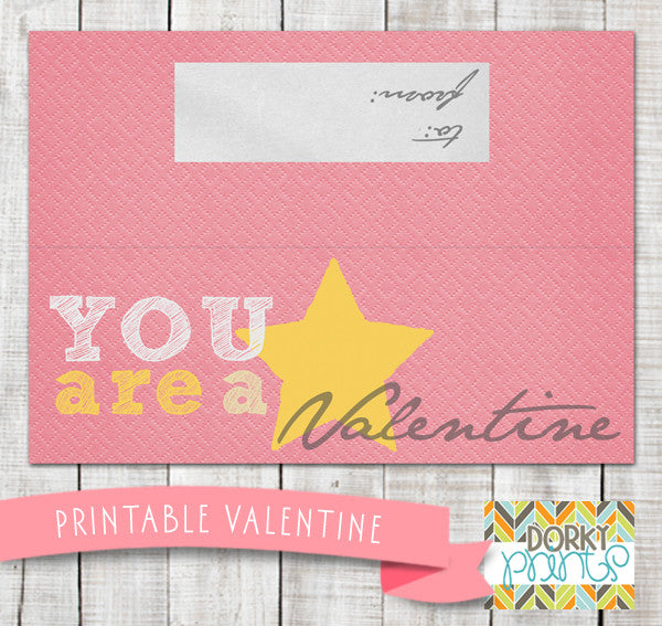 photo regarding Starburst Valentine Printable named \