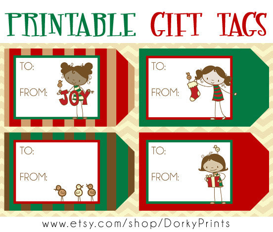 Girly Christmas Gift Tags Holiday Printables