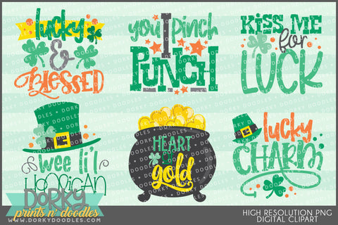 St Patrick's Day Wordart Holiday Clipart