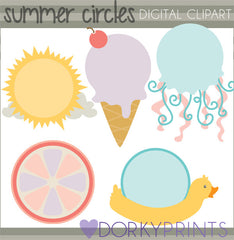 Circle Frames of Summer Clipart
