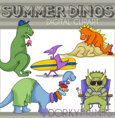 Dinosaurs of Summer Clipart
