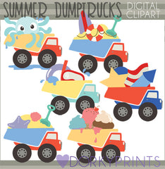 Dump Trucks Summer Clipart