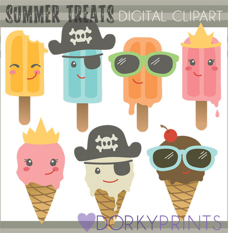 Summer Treats Food Clipart