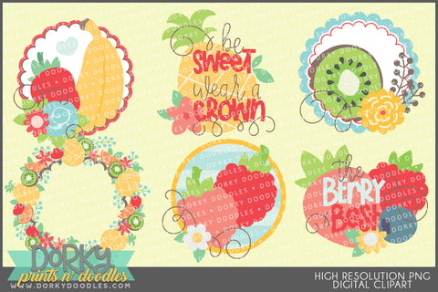 Cute Fruity Summer Food Clipart