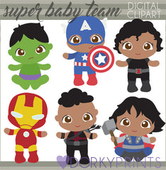Baby Team Super Hero Clipart
