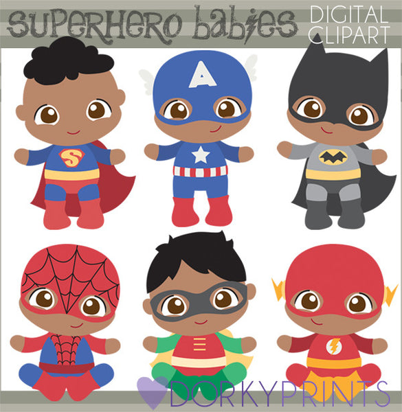 Baby Boy Super Hero Clipart