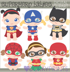 Baby Girl Super Hero Clipart