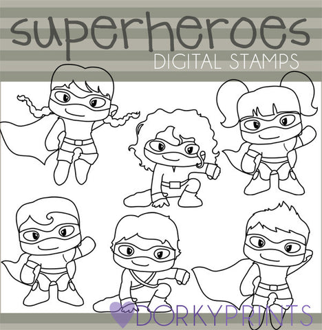Blackine Super Hero Clipart