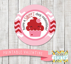 """Have a Sweet Day"" Valentine Circle Tags Holiday Printables"