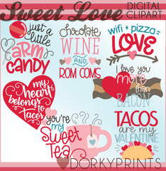 Funny Food Valentine Clipart