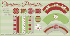 Christmas Cupcake Holiday Printables