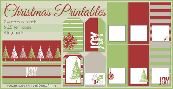 Christmas Labels and Tags Holiday Printables